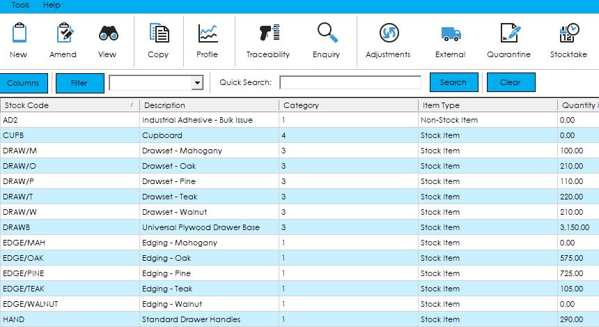 Cim50 Stock Control Features
